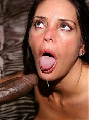 Cheyenne Hunter lures a black dude into eating her out and fucking her mature twat